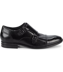 cap-toe leather oxfords
