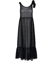 point desprit long dress