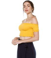 crop top amarillo ambiance