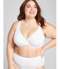 lane bryant women's cotton unlined full coverage bra 50c white
