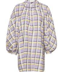 samantha, 1094 checkered organza dresses cocktail dresses grå stine goya