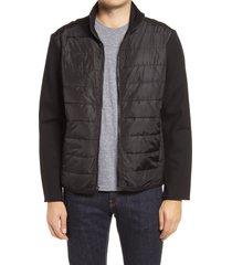 men's bugatchi quilted zip jacket
