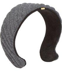fendi quilted headband - grey