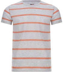 camiseta para hombre jaspe doble linea color gris, talla s