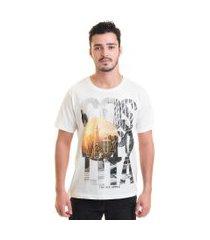 camiseta masculina manga curta estampada 30871