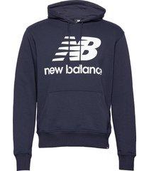 essentials stacked logo po hoodie hoodie trui blauw new balance