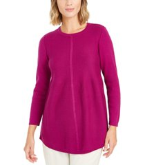style & co knit mixed stitch tunic, created for macy's