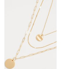 maurices womens 3 row mix chain layered drape necklace