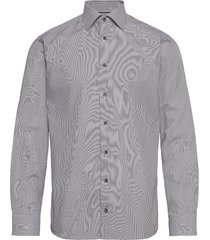 slim fit cotton shirt overhemd business blauw eton