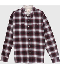 camisa vinotinto-blanco-negro levis