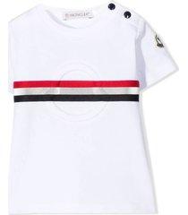 moncler white stretch-cotton t-shirt