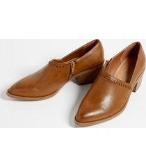 maurices womens amanda stitch low side shootie brown
