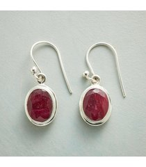 crimson lady earrings