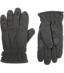 isotoner signature men's smartdri fleece smartouch gloves