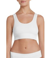 women's honeydew intimates bailey bralette, size medium - white