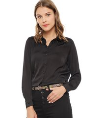 blusa jacqueline de yong penelope negro - calce holgado