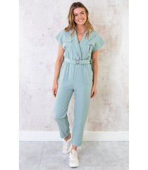 pocket jumpsuit mint