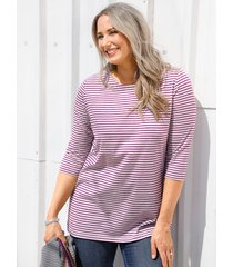 shirt miamoda paars::grijs