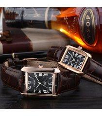 2pcs, reloj cuadrado de la correa del reloj-marrón