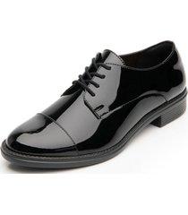 zapato mujer hanelli negro charol flexi