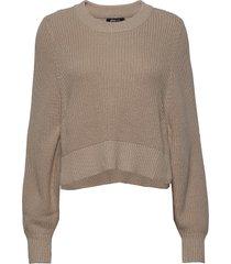 kaija knitted sweater stickad tröja beige gina tricot