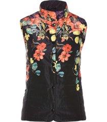 gilet trapuntato a fiori (nero) - bpc selection