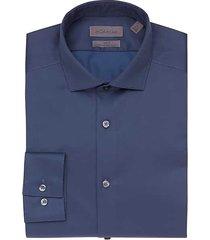 calvin klein men's infinite non-iron navy slim fit dress shirt - size: 17 38/39