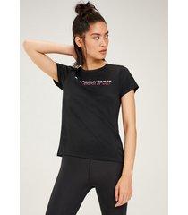polera t-shirt chest logo negro tommy sport