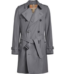 burberry the chelsea heritage trench coat - grey