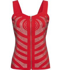 top con strass (rosso) - bodyflirt boutique