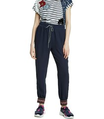 trousers - blue - l