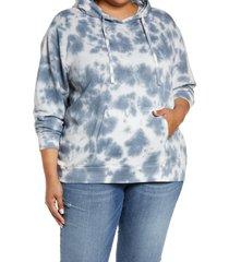 plus size women's caslon hooded sweatshirt, size 1x - blue