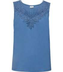 top con pizzo a uncinetto (blu) - bodyflirt