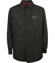 valentino logo patch buttoned jacket