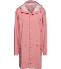 long jacket regnkläder rosa rains