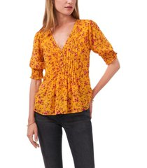 1.state pleated button front top