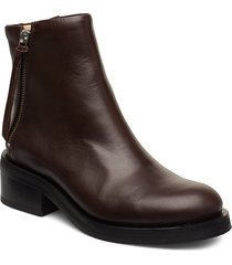 district ankle boot shoes boots ankle boots ankle boot - heel brun royal republiq