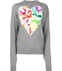 barrie dream in space cashmere round neck pullover - grey