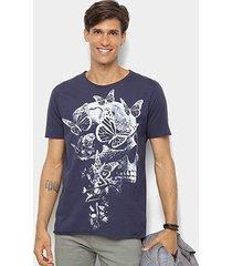 camiseta derek ho butterfly skull masculina