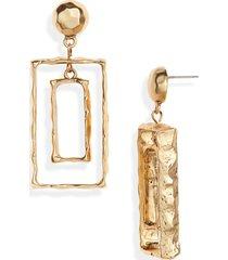 women's karine sultan rectangular frame drop earrings