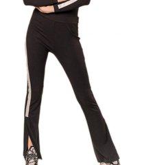 pantalón comfy flare negro élida