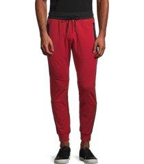 antony morato men's fleece drawstring pants - red - size xl