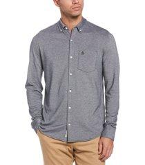 original penguin men's knit button-down shirt
