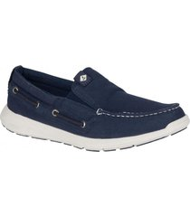 mocasin sojourn slip on azul sperry