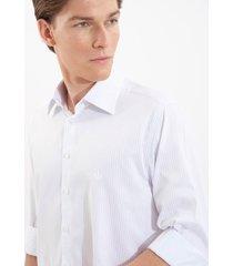 camisa dudalina manga longa luxury sarja fio tinto listrada masculina (preto, 48)