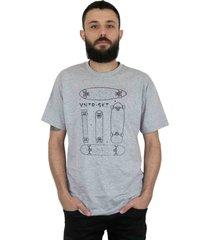 camiseta ventura shapes cinza mescla - kanui