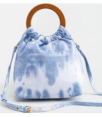 kendrah tie-dye tote - blue