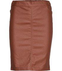 ada coated skirt knälång kjol brun kaffe