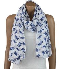 zeta phi beta oversized pure white and royal blue dove scarf