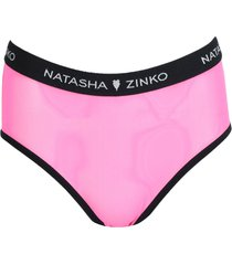 bright pink logo-trim panties